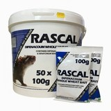 Rascal Difenacoum Whole Wheat Sachets - 50 x 100g Sachets
